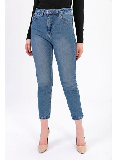 Tiffany&Tomato Yüksek Bel Mom Jean Pantolon - Mavi Mavi